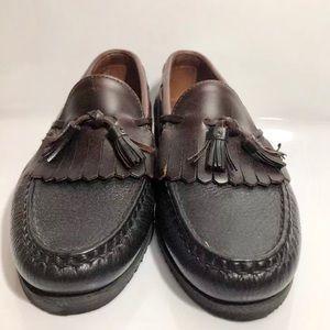 Allen Edmonds Loafers Black Brown Tassel  9 Medium
